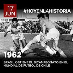 #Pinterest El 17 de junio de 1962, Brasil obtiene el bicampeonato mundial de fútbol en Chile. ¿Sabías que un terremoto, dos años antes, puso en riesgo la organización del torneo?