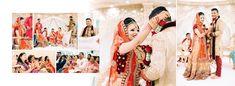Hindu Wedding Album Design | Gingerlime Design | Photography by Obsqura Photography | First look, Garlands, Haar Wedding Album Cover, Wedding Album Layout, Wedding Photo Albums, Indian Wedding Album Design, Indian Wedding Photos, Indian Wedding Receptions, Wedding Mandap, Wedding Stage, Tamil Wedding