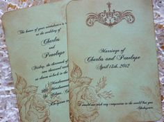 wedding invitations shabby chic | Shabby Chic Wedding Invitation RSVP Suite SAMPLE Handmade by If I Were ...