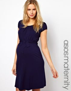 ASOS Maternity | ASOS Maternity Kate Dress With Belt and Scoop Neck at ASOS