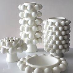 - handmade in Brooklyn - unglazed white porcelain - 7 x 9 inch diameter