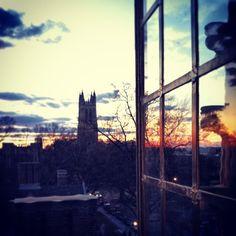 Duke from above at sunset. It doesn't get any better than this! #duke #sunset #pictureduke   via @dukeuniversity on Instagram