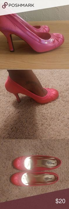 "Pink Charlotte Russe pumps Great condition, satin material, 4"" heel, round toe, size 8. Shoes Heels"