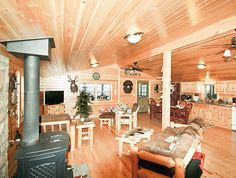 Double Wide Mobile Homes Interior Rustic Log Cabin In