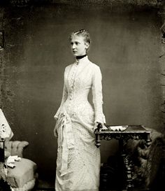 Princess Maria anna of Saxe Altenburg, later Princess of Schaumburg Lippe. Early 1880s. Tempus fugit....mors venit...