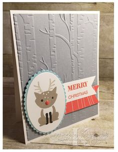 """Faithful INKspirations: A Foxy Christmas is made with Stampin' Up's """"Foxy Friends"""" and """"Holly Jolly Greetings"""" stamp sets."""