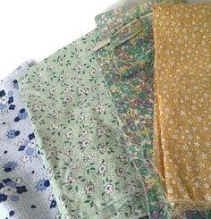 Destash Cotton Fabric Floral by CarleysCornerStudio on Etsy