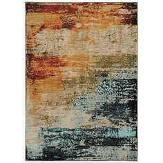 Reminiscent of a watercolor painting, this Sedona Watercolor Rug from Oriental Weavers is strikingly beautiful and perfect for any floor surface. Durably crafted from a space-dyed polypropylene/nylon blend with a vibrant design in exciting colors.