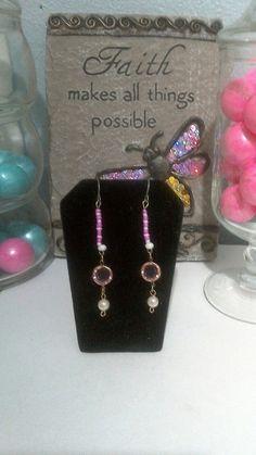 Katydids Pink Dangle Earrings