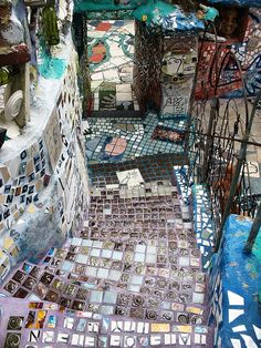 Magic Garden  Isaiah Zagar is a Philadelphia mosaic artist. He is notable for his murals which are primarily in or around Philadelphia's South Street.