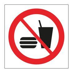 Mad & drikkevarer forbudt - Køb forbudsskilte her