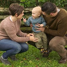 Flax Pullover Free Knitting Pattern for whole family - Tin Can Knits designed this easy pullover sweater with a ribbed neckline and textured panels on the sleeves. Sizes for the whole family from 0-6 months to 4XL