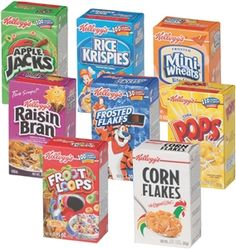 Kellogg's Portable Breakfast Cereal Variety Pack - Assorted Flavors For Everyone from Kids to Grandma, Single Serve Boxes Count) Healthy Cereal, Healthy Snacks, Hot Snacks, Gourmet Recipes, Snack Recipes, Food Box Packaging, Easy Party Food, Cereal Bars, Breakfast Cereal