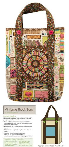 Easy tote bag sewing pattern. Free tote bag sewing pattern.