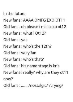 If Kris really leaving EXO,this will happen to EXO Fans..  There's diff between Old And New fans..  I'M CRYING TTATT pic.twitter.com/D9ga9t2MDl
