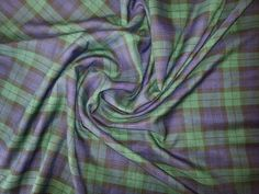 Black / Blue / Green Black Watch Tartan Fabric