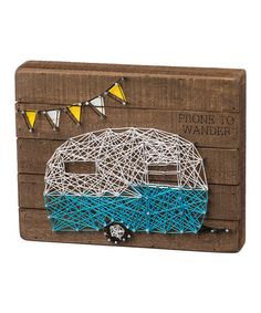 This Prone to Wander String Art Box Sign is perfect! #zulilyfinds