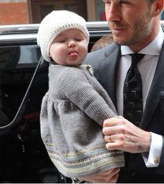 David Beckham and his precious little girl! how adorable :)