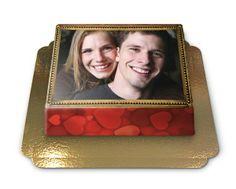 Gâteau photo, Taille M - 25x17 cm