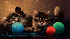 Graphicriver item: Drawing Kittens Playing  This Drawing Kittens Playing composition was painted completely by hand using standard brushes and graphics tablet. Each element can be used as a separate element.  http://graphicriver.net/item/drawing-kittens-playing/13853060  #CMS #kittens #play #DrawingKittens #graphicriver