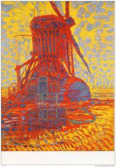 Molen bij zonlicht — Piet Mondriaan