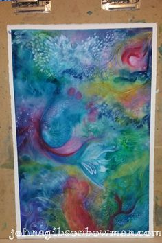 Sneak Peak...new abstract painting by Johna Gibson Bowman.