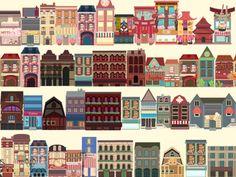 Big Citys by Kubra Aslan, via Behance #city