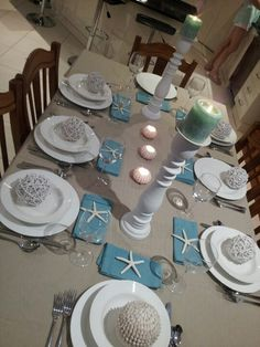 a blue blue christmas style series dining room pinterest table settings beach and coastal
