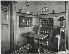 I love how they used a kilim on the sofa in this interior of a Grunewald villa in Berlin, 1904. #edwardian #interior