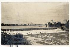 St. Joseph River dam in Constantine, MI, around the turn of the century..