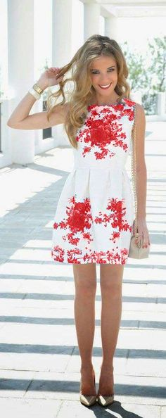 Pick an unique pattern like this. White & Red floral print is chic and classic. Order it for 30% from 19 May to 19 July 2015