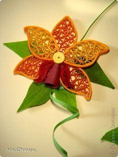 Картина, панно Квиллинг: Квиллинг: Выставка орхидей =) Бумажные полосы. Фото 3