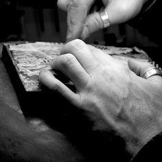 Neil Bousfield engraving 'Seaside Steps'