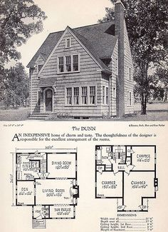1928 Home Builders Catalog - The Dunn | From the collection … | Flickr