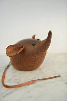 Large H&F Danish Teak Mouse by TheModernVault on Etsy, $179.00