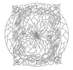 Mandalas To Paint: Mandala Art Nouveau
