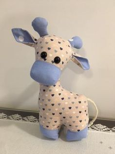 Gerald the Giraffe Sewing Pattern Sewing Toys, Baby Sewing, Sewing Crafts, Sewing Stuffed Animals, Stuffed Animal Patterns, Stuffed Animal Diy, Animal Sewing Patterns, Sewing Patterns Free, Pattern Sewing
