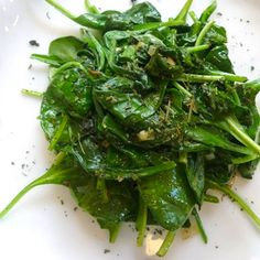 baby-spinach-with-garlic-mint-recipe