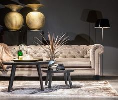 Sofa, Couch, Chesterfield, Taupe, Velvet, Living Room, Room Inspiration, Holland, Furniture