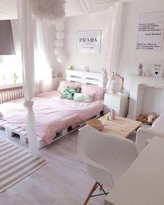Teen Girl Bedrooms, study the thoroughly attractive room design now, ref 7442570429 Cute Bedroom Ideas, Cute Room Decor, Girl Bedroom Designs, Bedroom Decor Ideas For Teen Girls, Tumblr Bedroom, Dorm Room Organization, Organization Ideas, Stylish Bedroom, Modern Bedroom