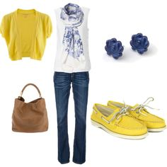 I am in love with yellow boat shoes