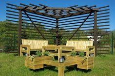 triangular pergola picture ideas