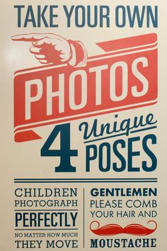 Alejandro's photo booth sign must have