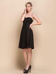 Empire Sweetheart Knee-length Chiffon Over Mading Bridesmaid/ Homecoming Dress 929967 - USD $39.99