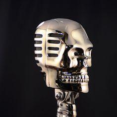 Metal Skull Shaped Microphones