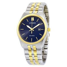 Citizen Corso Eco-Drive Blue Dial Two-Tone Stainless Steel Mens Watch BM7334-58L  $148.99  $275.00  (13 Available) End Date: Aug 032016 07:59 AM GMT-07:00
