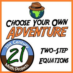 Adventure Math Worksheet -- Two-Step Equations -- India FREEBIE -- Let me know if you want more like this one! -- Choose Your Own Adventure -- Solving Two-Step Equations -- India Math Teacher, Math Classroom, Teaching Math, Classroom Ideas, Algebra Activities, Math Resources, Maths, Classroom Resources, Math Games
