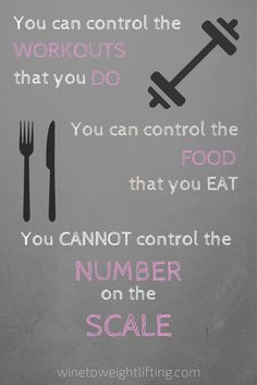 You can control the WORKOUTS that you DO. You can control the FOOD that you EAT. But you CANNOT control the NUMBER on the SCALE. Too often we are focused on the number and not what our bodies can do or how far we have come. For more body image posts, check out @winetoweights blog at winetoweightlifting.com/bodyimage #bodyimage #crossfit #fitspo #fitspiration
