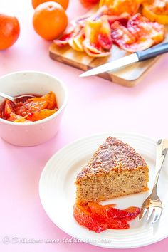 Blood Orange Cake - a beautiful gluten free and sugar free blood orange cake that tastes so good you won't miss the flour or sugar!