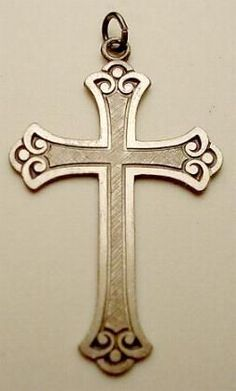 New Sterling Silver LARGE Florentine Cross-Free Shipping! #Cross